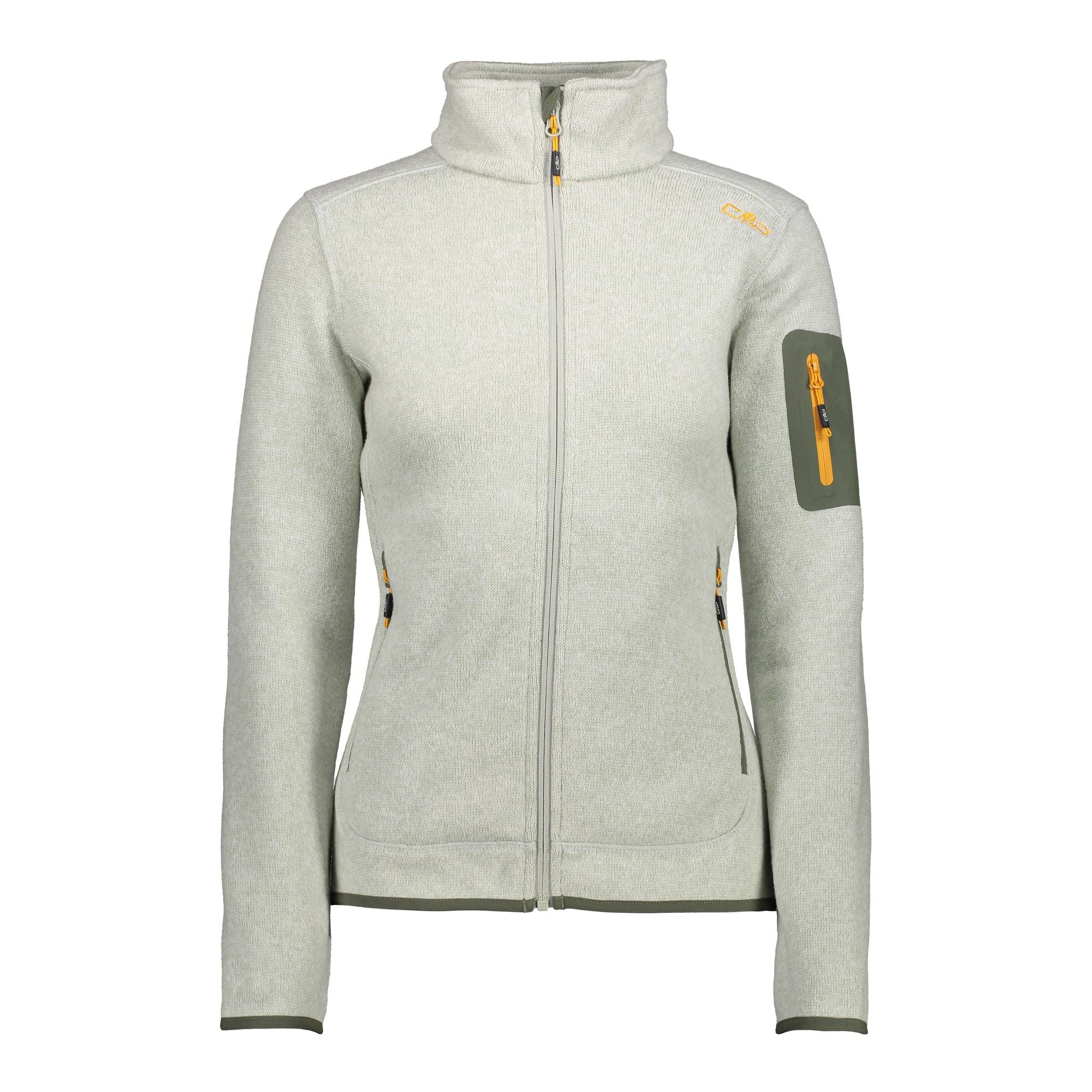 Woman Jacket Cmp Knitted Damen 3h14746 Fleece Fleecejacke Melange xnvxatwqzS