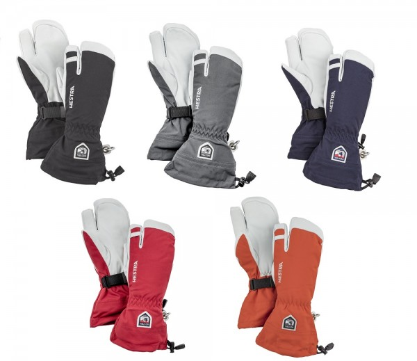 HESTRA Army Leather Heli Ski Handschuhe 3-Finger Unisex