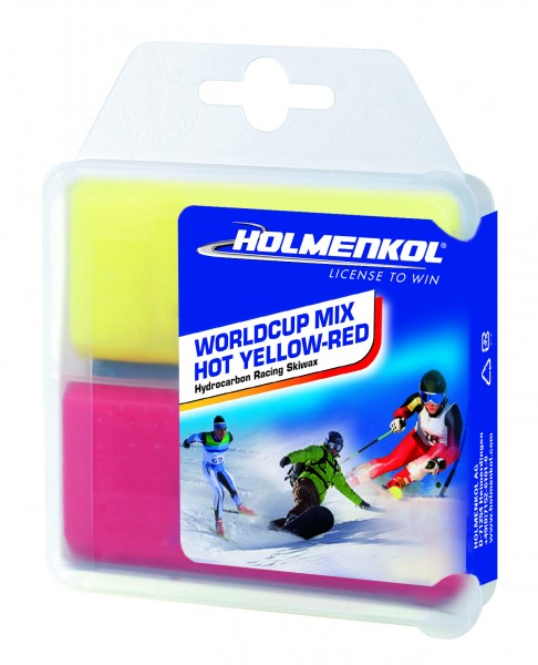 Holmenkol Worldcup Mix HOT Yellow-Red 2x35g Skiwachs (14,27€*/100g)