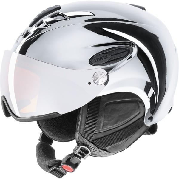 Uvex hlmt 300 visor chrome LTD - Skihelm für Erwachsene