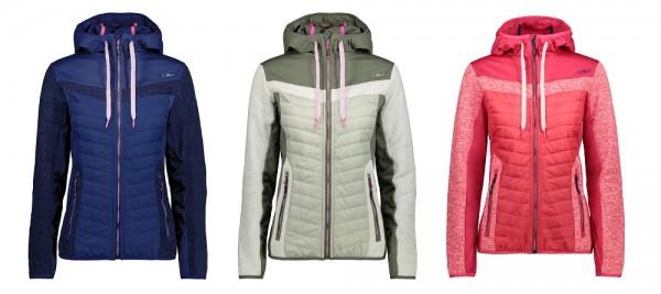 CMP Woman Fix Hood Hybrid Jacket - Damen Fleecejacke