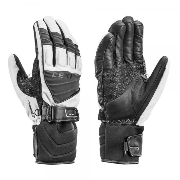 Leki GRIFFIN S - Skihandschuhe, weiß/grau/schwarz