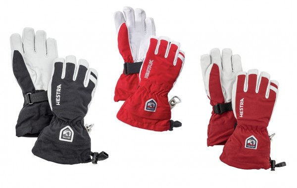 HESTRA Army Leather Heli Ski Jr 5-Finger Kinder Handschuhe