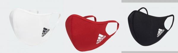 Adidas Gesichtsmaske 3er Pack in verschiedenen Farben Gr. M/L, waschbar
