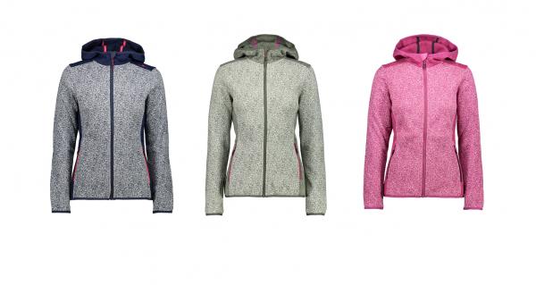 CMP Woman Fix Hood Jacket - Damen Strickfleecejacke