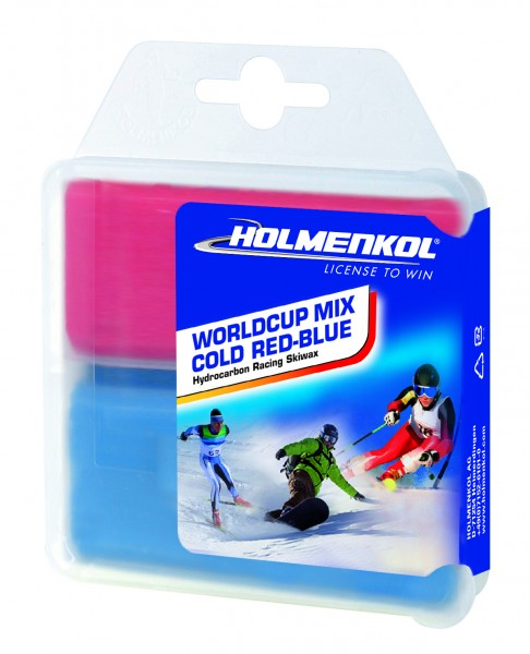 Holmenkol Worldcup Mix Cold Red Blue 2x35g Skiwachs (14,27€*/100g)