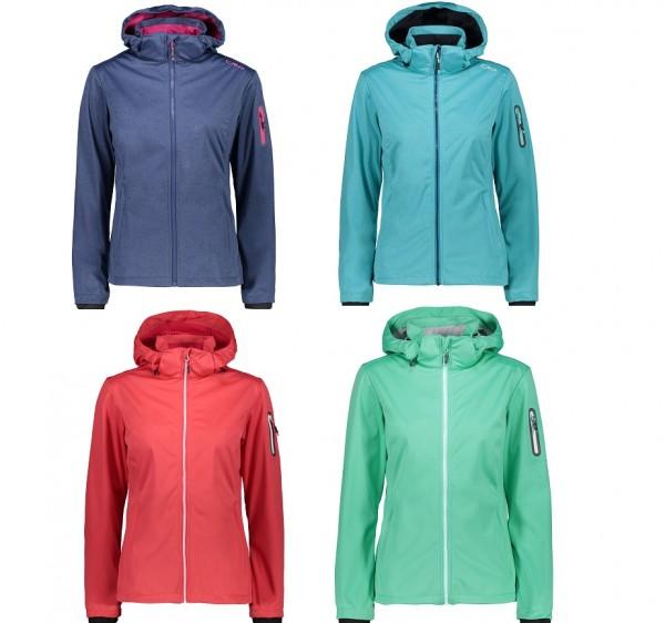 CMP Woman Jacket Zip Hood - leichte Damen Softshelljacke