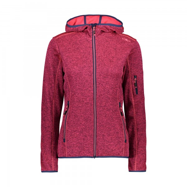 CMP Girl Jacket Fix Hood - leichte Mädchen Strickjacke