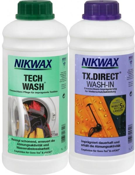 Nikwax Set 2 x 1 Liter TECH WASH + TX.DIRECT Imprägnierung (2,00 EURO/100ml)