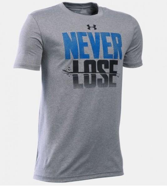 """Under Armour Jungen-T-Shirt \""""Never Lose\"""" Trainingsshirt"""