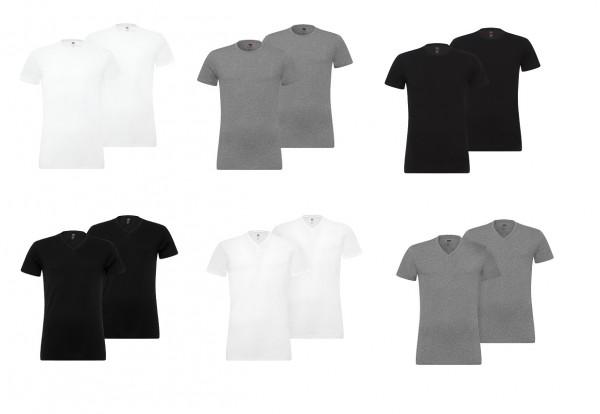 Levi's Rundhals- oder V-Ausschnitt T-Shirt/Unterhemd (2er Pack)